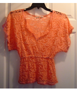 Women's Size S MUDD Lace Peach Top - $12.99