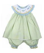 Adorable Green Aqua Petit Ami Smocked Dophin Gi... - $53.34 - $58.19