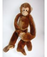 Its All Greek To Me Hanging Plush Monkey Stuffed Animal Brown Tan Toy - $16.97