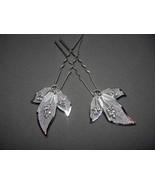 Rhinestone Hair Pin Calla Lily  Crystals Silver... - $5.50