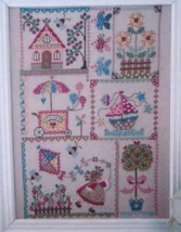 Summer In Quilt cross stitch chart Cuore e Batt... - $13.50