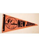 VINTAGE 1950'S NEW JERSEY MINI FELT PENNANT NIC... - $14.89