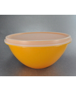 Vintage Tupperware Wonderlier Harvest Gold 5 Cup Mixing Bowl Sheer Lid