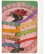 Crochet Vintage Edgings Book Thread Knit Tatti... - $7.79