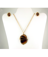 Vintage Sarah Coventry Carameltone necklace ear... - $30.00