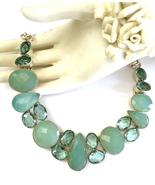 Gorgeous Handmade Aqua Chalcedony, Apatite, and... - $140.00