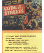 Code Of The Streets dvd Little Tough Guys Frankie Thomas