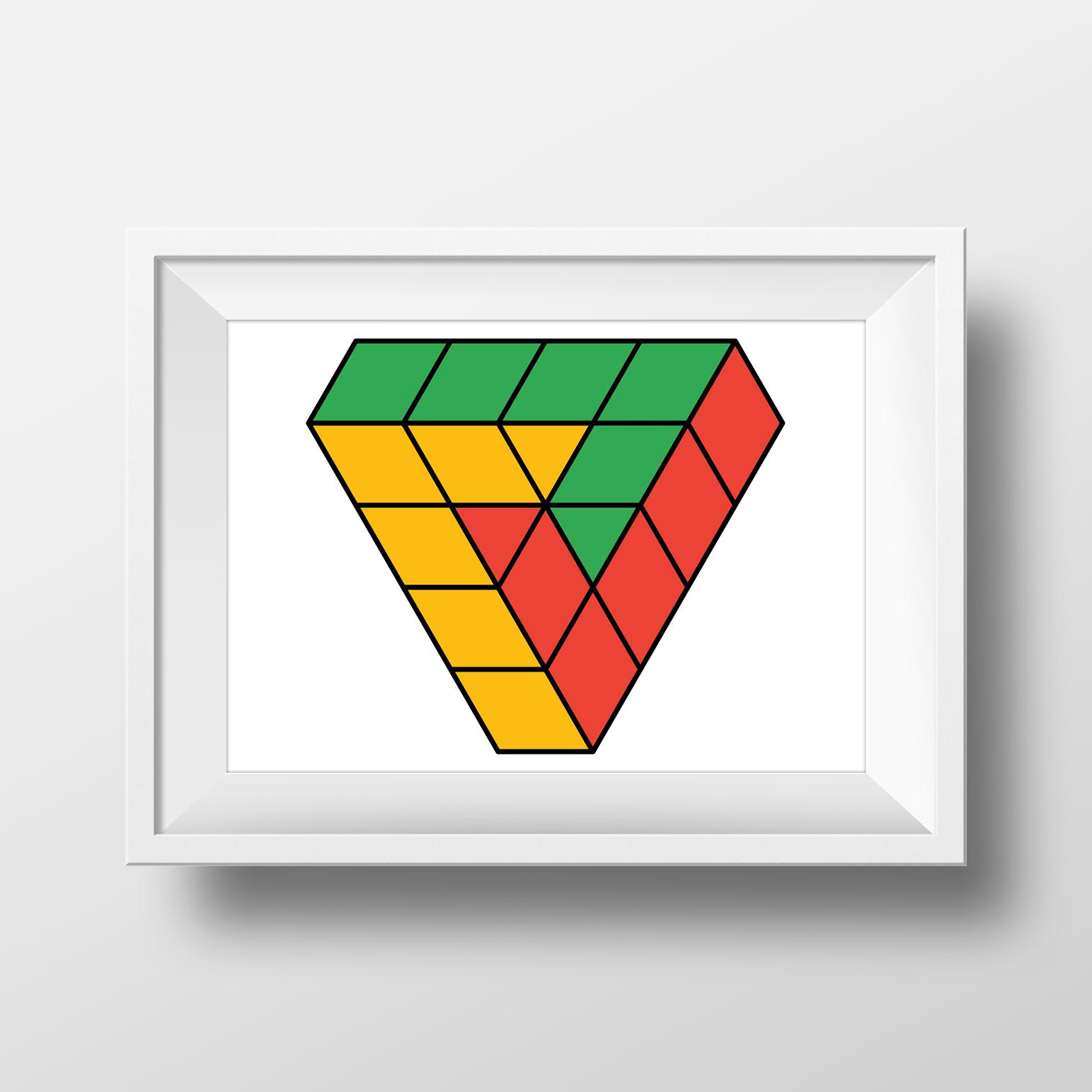 Penrose Triangle Cubes Penrose triangle cubes...