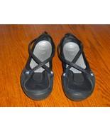 CROCS Women's CELESTE Canvas Shoes 8 X-strap Sl... - $17.99