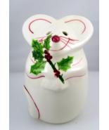 N S Gustin smiling Christmas mouse cheese shake... - $15.00