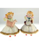 Pair UCAGCO porcelain musical angel figurines m... - $28.00