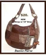 Bueno Handbag NWOT Leather and Suede 3 X 13 X 8... - $22.72