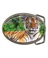 GORGEOUS SIBERIAN TIGER BELT BUCKLE CHROME FINISH - $12.99