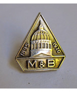 Sterling Silver M&B Pin Merchants & Business Me... - $12.27