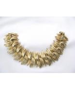 Lisner Chunky Wide Bracelet Gold tone Sz 7 - $24.00