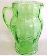 Anchor Hocking Depression Glass Cameo Pitcher - $75.00