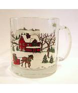 Libbey Mug Winter Village Christmas Glass - $14.00