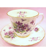 Crown Trent Tea Cup and Saucer Flower of the Mo... - $28.00