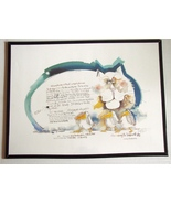 Large 1977 Signed Nedobeck Cat Watercolor Litho... - $100.00