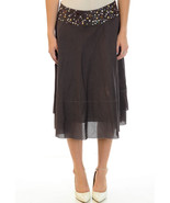 Size 6 ANTHROPOLOGIE Chocolate Brown Skirt by A... - $39.59