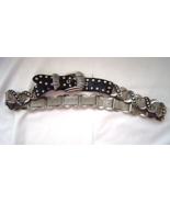 Black Genuine Leather 30 and Silver tone Mess ... - $24.95