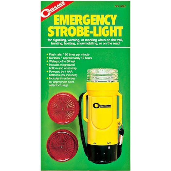 Buy hiking camping instruments - COGHLAN\'S EMERGENCY STROBE LIGHT - Waterproof To 50\', Camping, Hiking, Hunting
