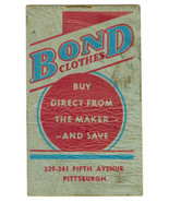 1941 Bond Clothes Clothing Store Advertising No... - $5.93