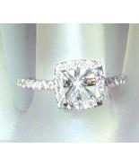 0.36ct Cushion Diamond Engagement Halo Ring Sem... - $958.88