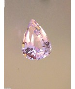 Pear Shaped Loose 12.04ct Kunzite Pale Pink Gor... - $278.88
