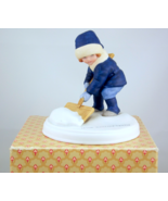 Vintage Avon A Winter Snow porcelain figurine J... - $20.00