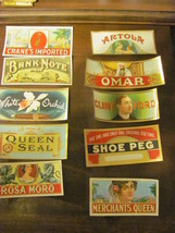 10 outer vintage 2X5 cigar box labels, 1920s, c... - $12.50