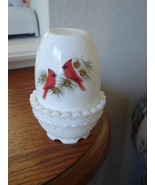 Fenton Cardinals In Winter Fairy Light HP Milk ... - $24.95