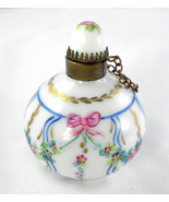 Limoges Box - Vintage Round Perfume Flask Bottl... - $85.00