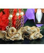 Vintage Alva Museum Replicas Gold Dragon Pendan... - $44.95