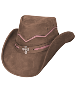 Bullhide Serenity Leather Cowgirl Hat Aussie Cr... - $82.00