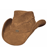 Bullhide Highland Leather Western Hat Pinchfron... - $70.00