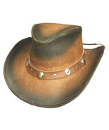 Bullhide Bunker Hill Leather Cowboy Hat Aussie ... - $60.00