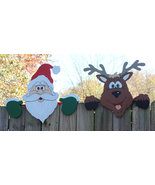 Set of 4, Santa's And Deer's Fence Toppers, Chr... - $145.00
