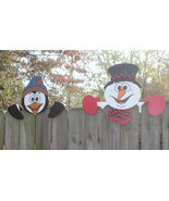 Set of 2, Arctic Friends Fence Toppers, Christmas - $75.00