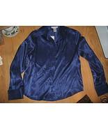 Ladies dressbarn Career Electric blue black Str... - $12.99