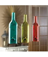 3 Hanging Bottle Candle Holders - $30.00