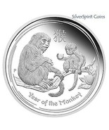 2016 YEAR OF THE MONKEY 1oz Silver Proof Coin f... - $71.12