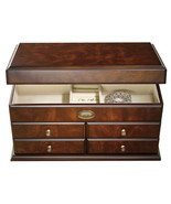 New Large Wood Jewelry Box Storage Container Br... - $179.50