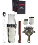 Cocktail Bar Shaker Gift Set Professional Barte... - $49.99