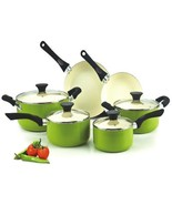 Pots Pans Non-stick Ceramic Coating Cookware 10... - $89.38
