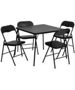 Folding Table Chair Poker Casino Set Traveler 5... - $102.20