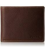 Genuine Leather Wallets Mens Fossil Lincoln Mon... - $49.81