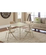 Folding Card Table Chair Set 5 Piece Casino Pok... - $131.81