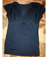 Banana Republic Silk Gathered V Neck Size X-Sma... - $13.85