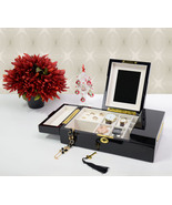 Executive High Gloss Black Wood Finsh Valet Wat... - $79.50